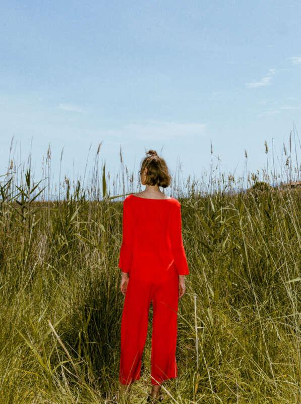 Jojoto blouse red - back
